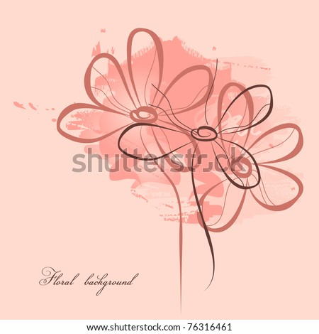 Pink floral painting