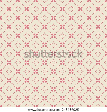 pink floral pattern with dots