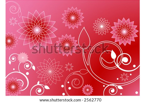 pink flowers background. stock vector : pink flower
