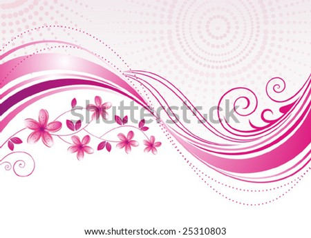 pink flowers background. stock vector : Pink flower.