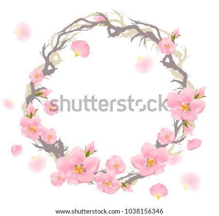 pink flowers flowering branch