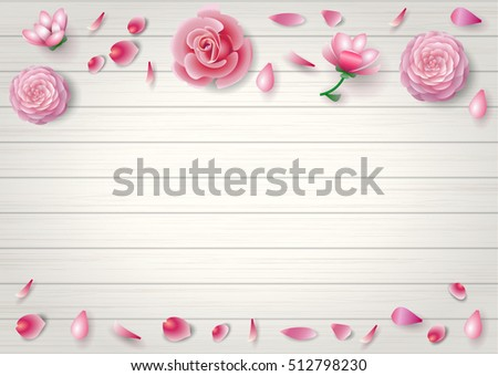 Pink flowers of roses, magnolias, chrysanthemums, gladiolus on a white background. Vector graphics #512798230