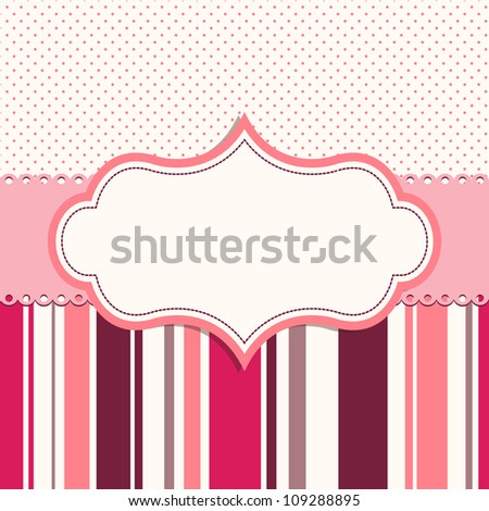 pink frame for greeting card