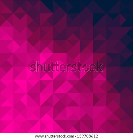 Pink geometric triangle background