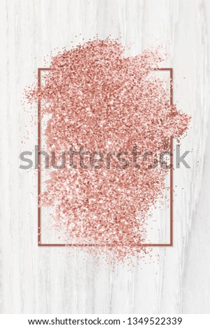 pink gold glitter with a