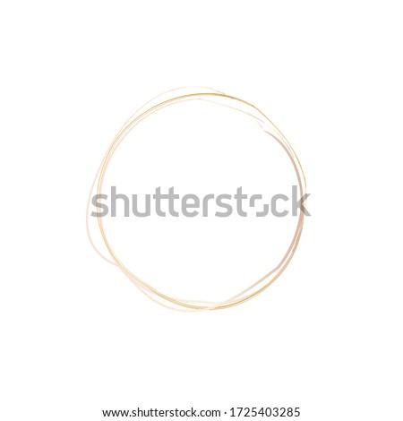 pink gold scribble circles