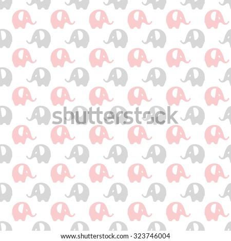 pink  gray   white elephants