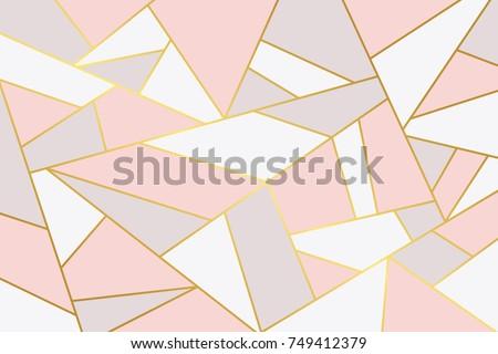 Pink grey geometry background.