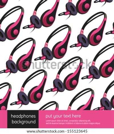 pink headphones pattern