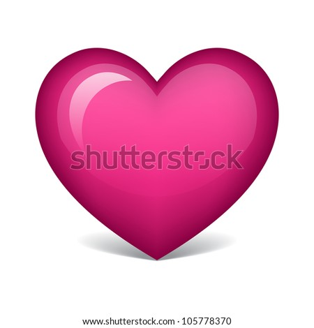 pink heart - stock vector