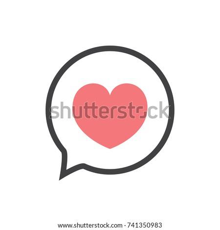 Pink Heart icon isolated on white background