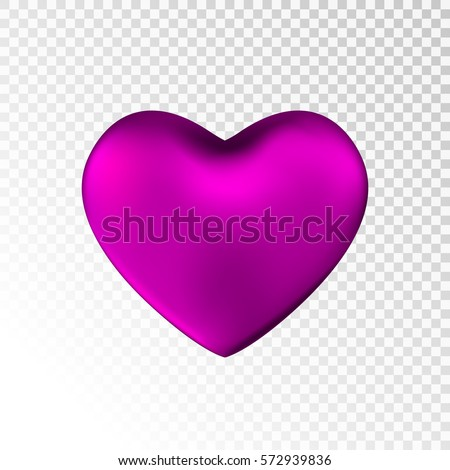 pink heart isolated on