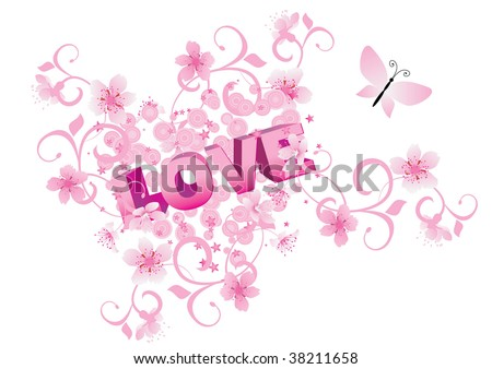 heart images love. stock vector : pink heart love