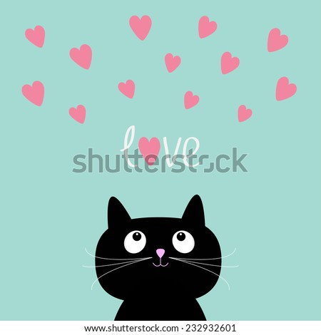 pink hearts and cute cartoon