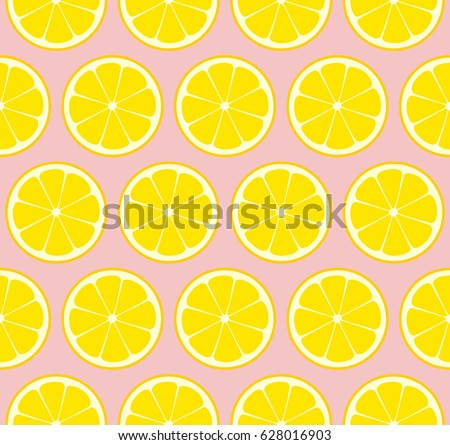 pink lemonade seamless vector
