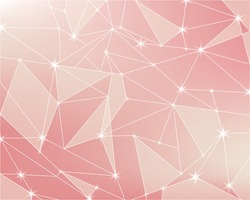 Pink light abstract polygon stars background