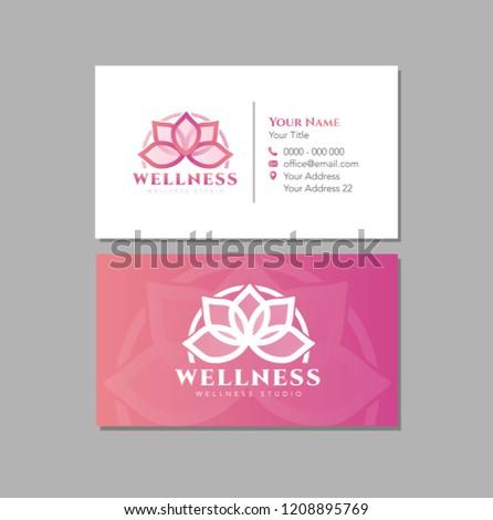 Pink Lotus Business Card