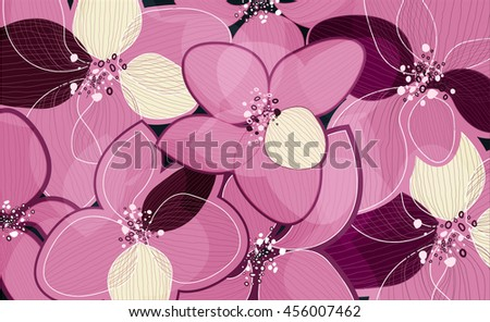 pink lotus flower petals on art