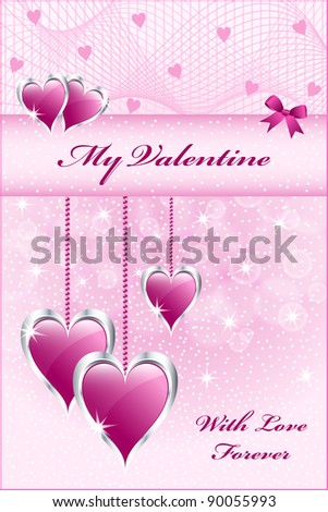 hearts symbolizing valentines day mothers day or wedding anniversary