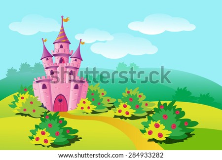 pink magic castle