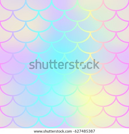 Pink mermaid tail texture. Fish scale seamless pattern. Mermaid vector background for beach party or summer wedding design. Romantic pastel colored backdrop with fish scale ornament. Nautical pattern