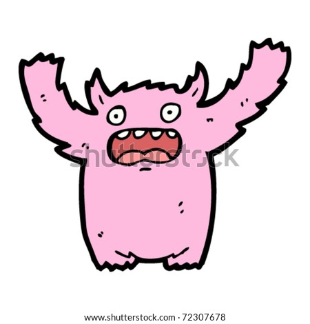 pink monster cartoon