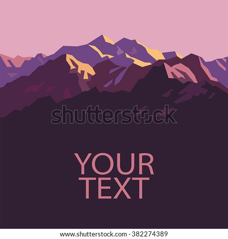 pink mountains place for text