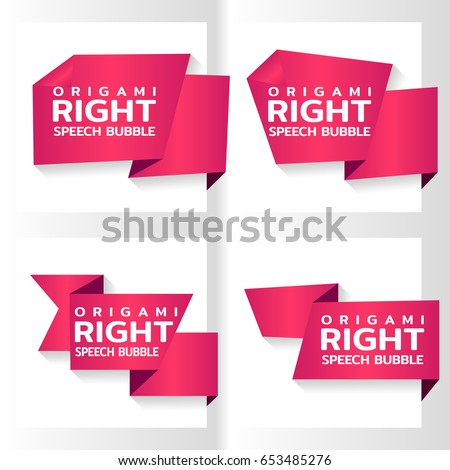 pink origami paper banners for