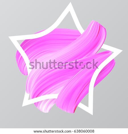 pink paint brush star  feminine