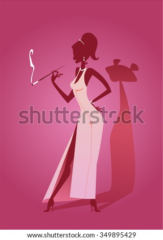 pink panther girl silhouette