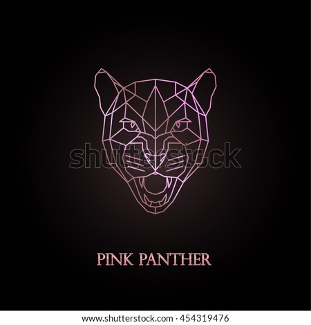 pink panther logo design