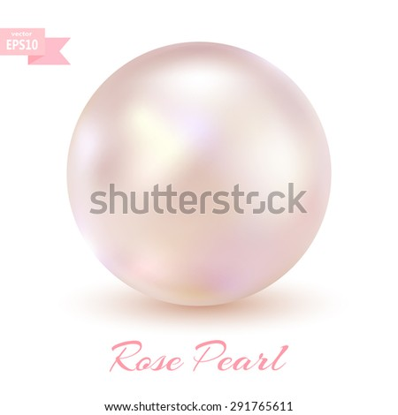 pink pearl isolated on a white