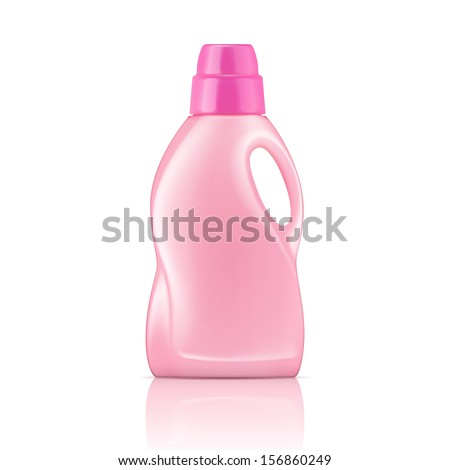 pink plastic bottle for liquid