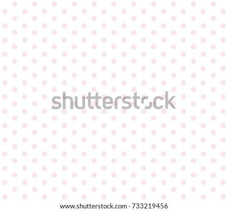 Pink polka dot background. Pink dot vector pattern.