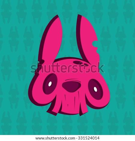 pink rabbit head
