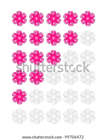Pink rating flowers vector