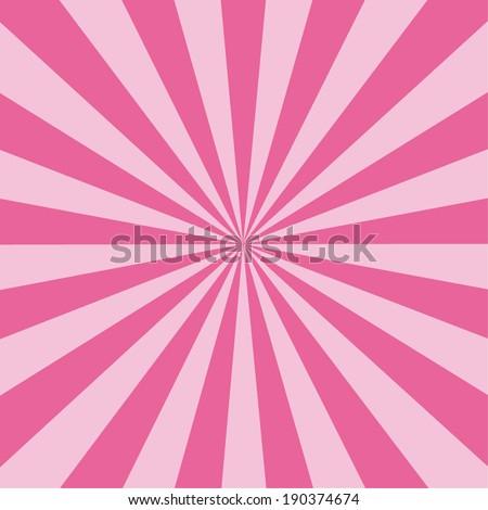 Pink rays sunburst vector.