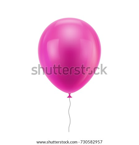 pink realistic balloon pink