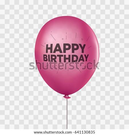 pink realistic helium balloon