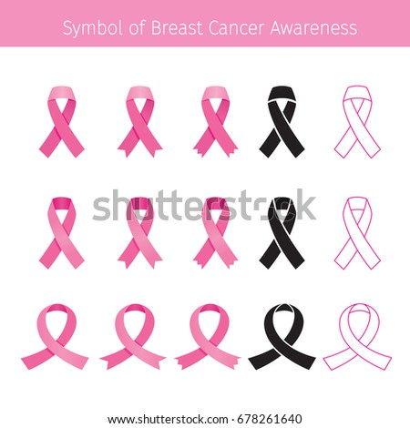 pink ribbon  symbol breast