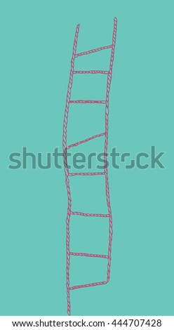 pink rope ladder on blue
