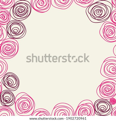 pink roses lines kiddy hand