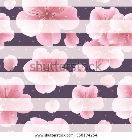 pink sakura flowers with petals
