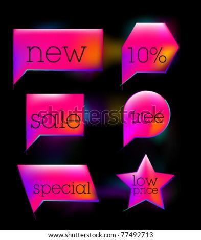 Pink sale tag sticker