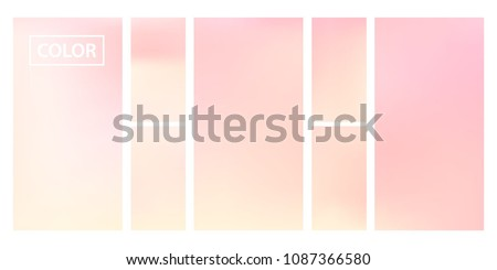 pink screen gradient set with