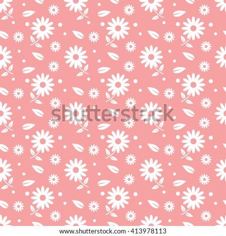 pink seamless flower pattern