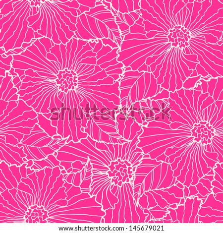 pink seamless pattern with big