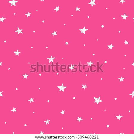 pink seamless pattern with hand