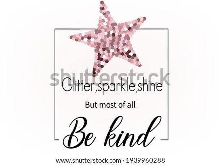 pink sequin star   positive