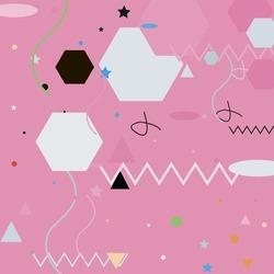 Pink Shadows Zigzag Orange Grey Geometrical Art Illustration. Lines Chaos Polygon Black Modern Hipster Background. Green Triangle Pastel Ornamental Fabrics. Blue Silver Calm Oval Vector Design Pic.
